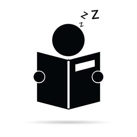 reader: book reader icon vector illustration on white background