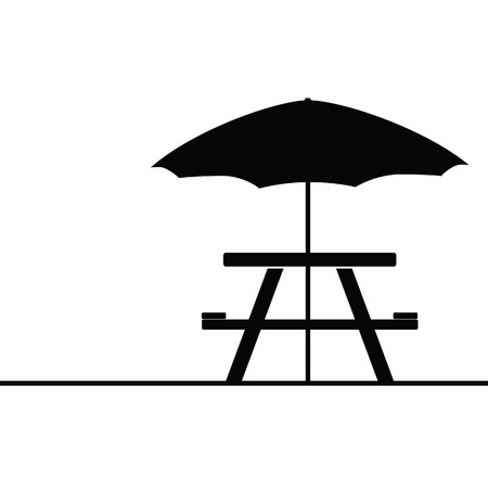 camping and picnic table icon vector illustration Vector