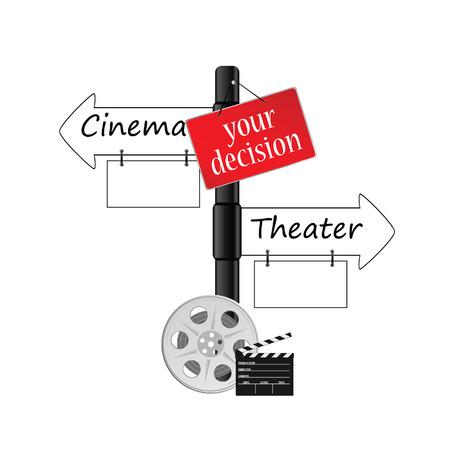 cinema or theater icon vector illustration Vector