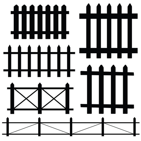 symbol fence: fence vector illustration
