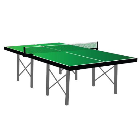 table tennis: Table tennis green table tennis vector illustration Illustration