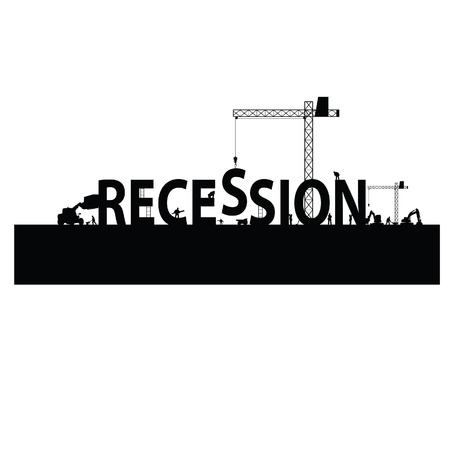 adapting: recession with a workforce vector illustration Illustration