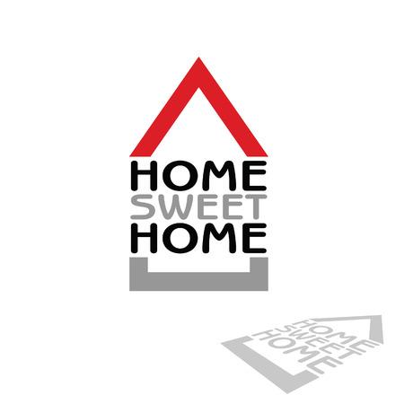 icone maison: home sweet home ic�ne illustration vectorielle Illustration
