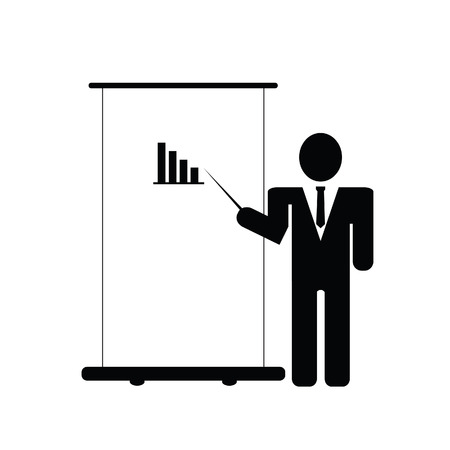 lecture on success vector illustration on white Vector
