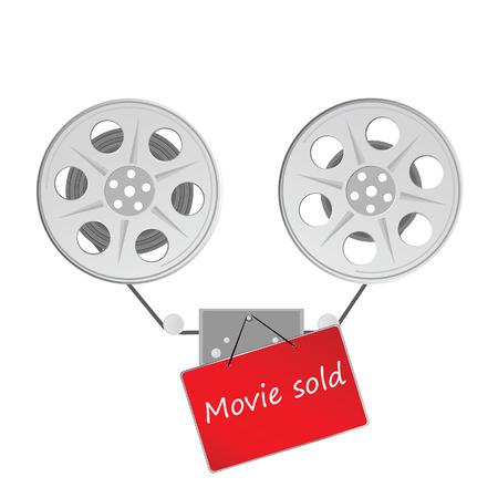tv screen: movie icon vector illustration
