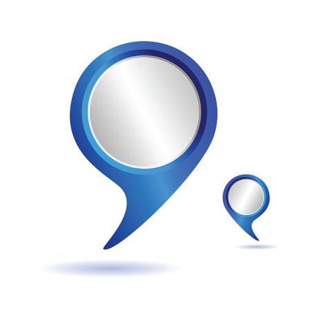 pointer blauwe vector illustratie