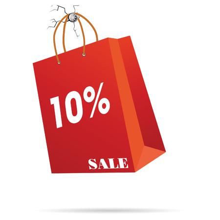 reps: representante de la bolsa de papel ilustraci�n vectorial venta s�mbolo Vectores