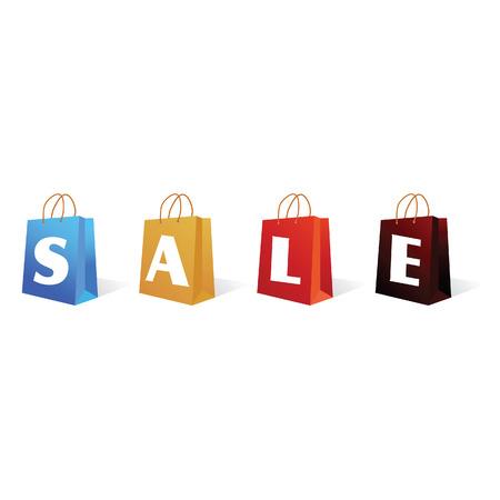 sale sign bag vector illustration color on a white background Vector