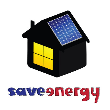 slot in: save energy vector illustration