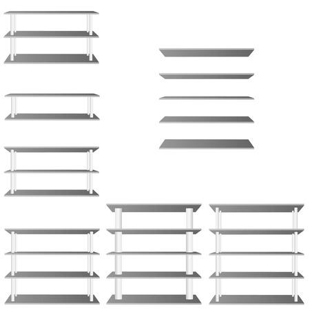 shelve: shelve for room decoration vector illustration on white