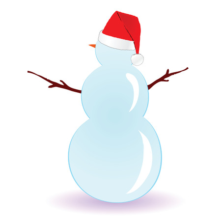 yule tide: snowman vector art illustration on white background Illustration