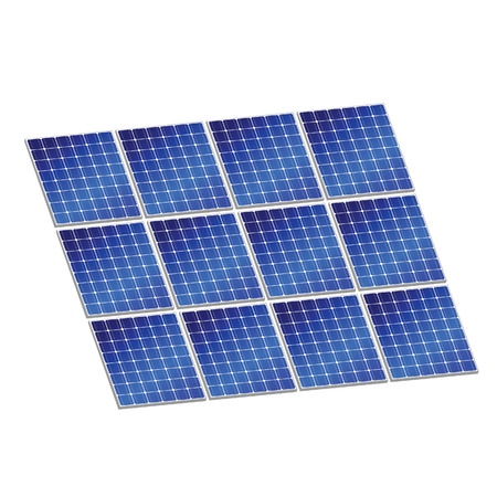 photovoltaics: solar panel in blue color vector illustration