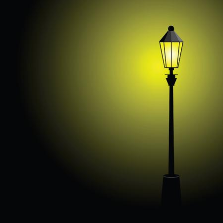 уличный фонарь: уличный фонарь цвет векторные иллюстрации