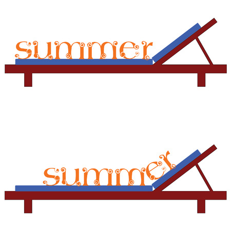 lifebouy: summer chairs for a beach vector illustration on a white background Illustration