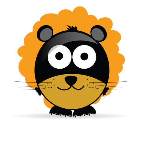 sweet and cute lion vector illustration on white illustration