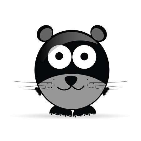 sweet and cute mouse vector illustration on white illustration