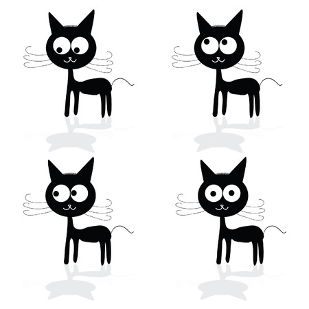 sweet and fuuny cat vector illustartion photo