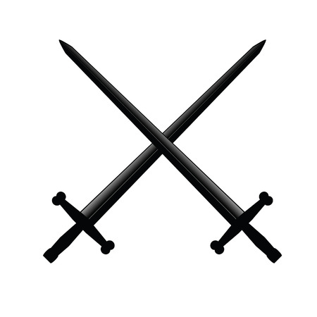 excalibur: swords vector illustration Stock Photo