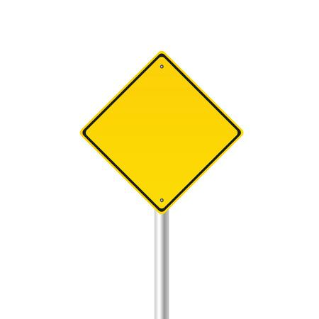 signos de precaucion: se�al de tr�fico de color ilustraci�n vectorial