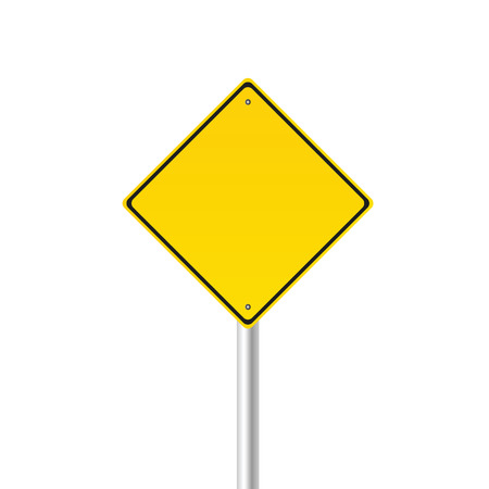 warning signs: traffic sign color vector illustration