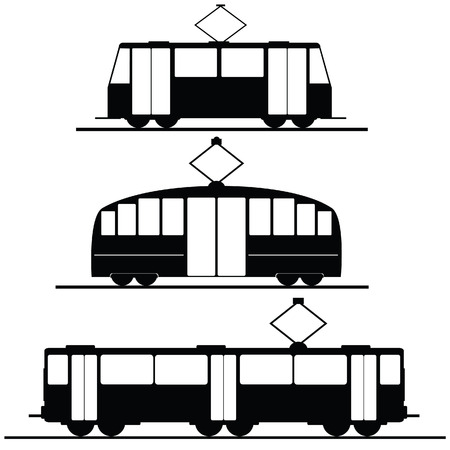 trams and trolleybuses vector illustration Stock Photo
