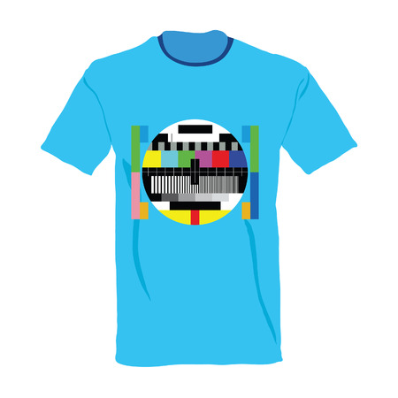 tv test on shirt vector illustration on a white background Vector