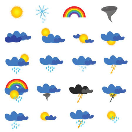 weather symbol vector illustration on white background Vector