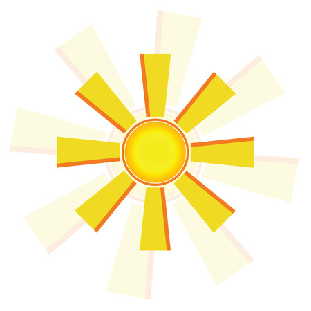 windmill sun vector illustration Vector