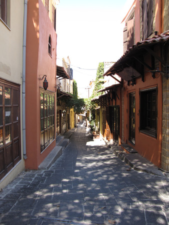 streets in the old city of Rhodes photo two