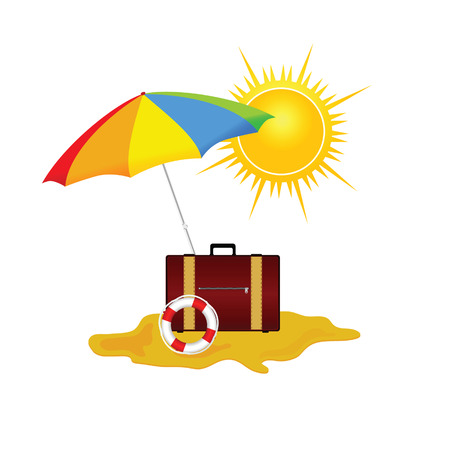 paradisiacal: beach and stuff vector illustration part two