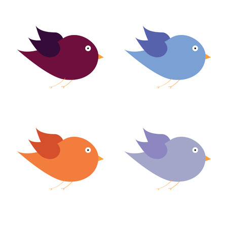 beauty bird color art vector illustration Vettoriali