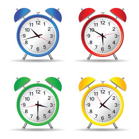vintage clock: beauty clock vector illustration