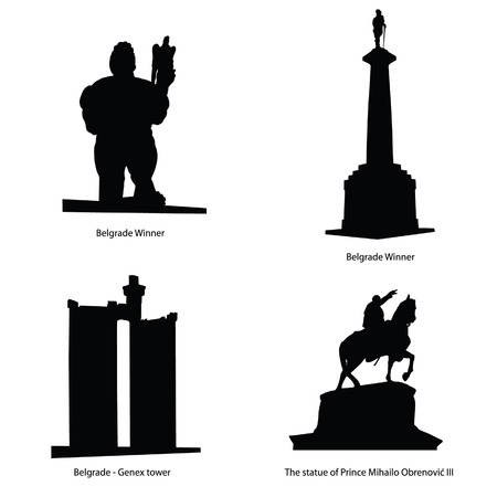 belgrad berühmteste Statue Vektor-Illustration