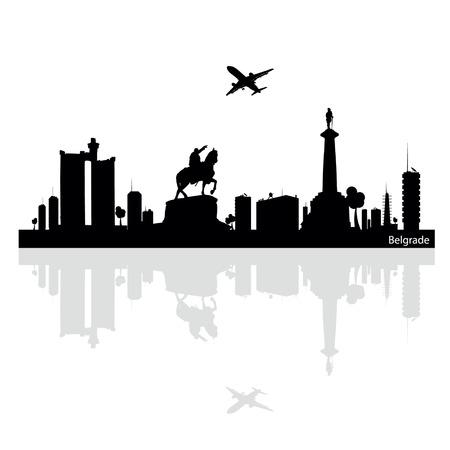 belgrade vector illustration Ilustração