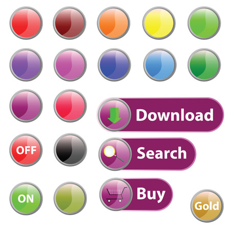 player controls: button for web art vector illustration on white Illustration
