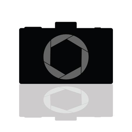camera aperture vector illustration
