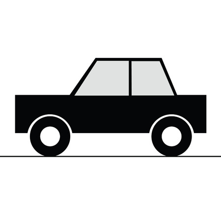road rage: car simple vector art illustration for symbol