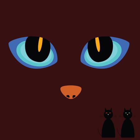 cat eye: cat eye on a dark background vector illustration