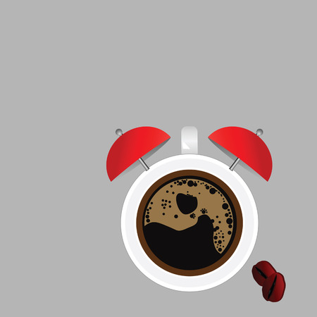 clock and coffee vector illustration part four
