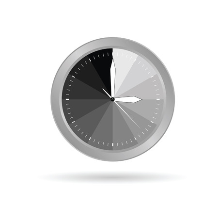clock grey vector illustration Vector