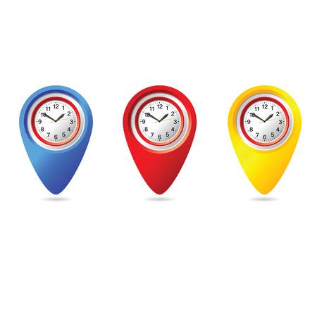 uhr icon: Uhr-Symbol Vektor-Illustration