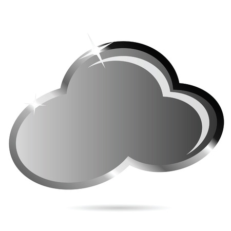 wheather forecast: cloud black vector illustration icon on white background