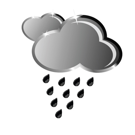 hailstorm: cloud from which rain falls vector illustration