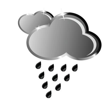 drench: nube de la que la lluvia cae ilustración vectorial