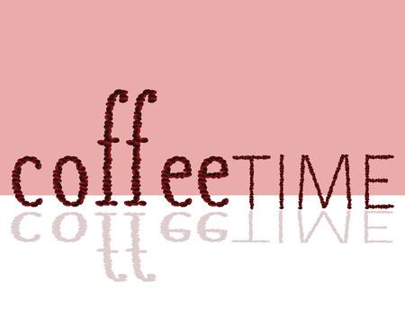 cappucino: koffietijd teken illustratie vector met bonen