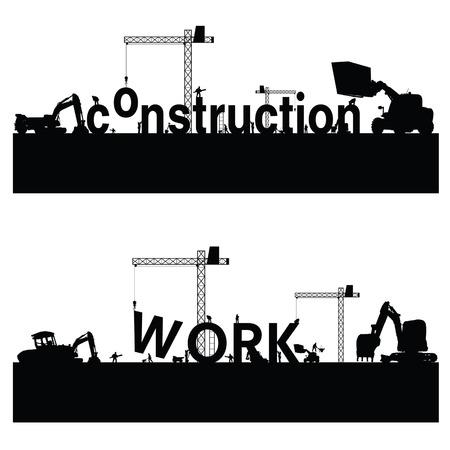 Bauarbeiten Vektor-Illustration