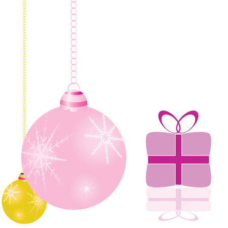 decorations for the Christmas tree and packages vector illustration Vector