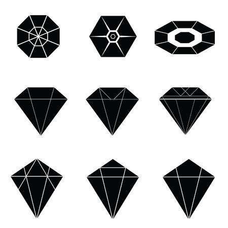 diamonds on black: diamonds black vector illustration