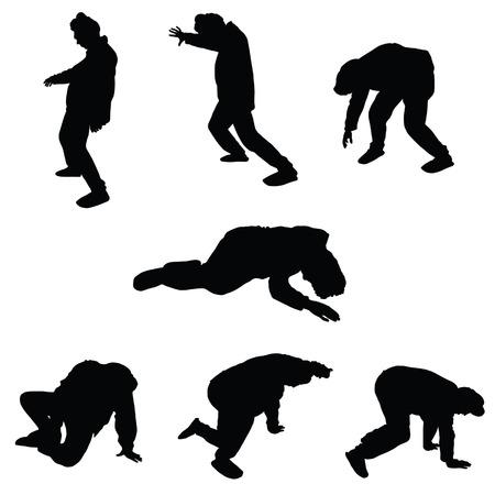 Ubriaco silhouette illustrazione vettoriale Archivio Fotografico - 33873892