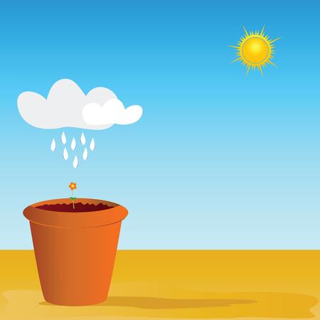 peat: flowerpot vector illustration